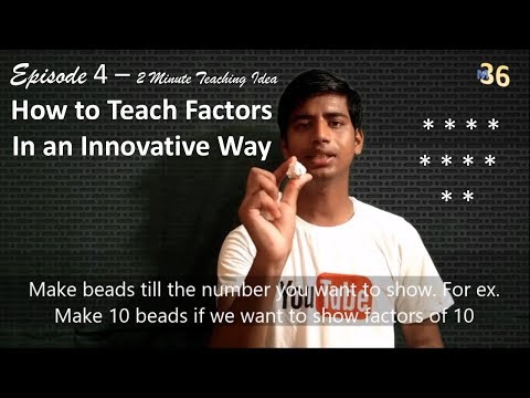 How to Teach Factors in an innovative way | Zero cost teaching Aid | 2 Minute Teaching Idea