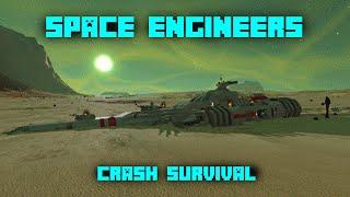 Space Engineers Crash Survival #1 -  ALIEN SPIDERS!