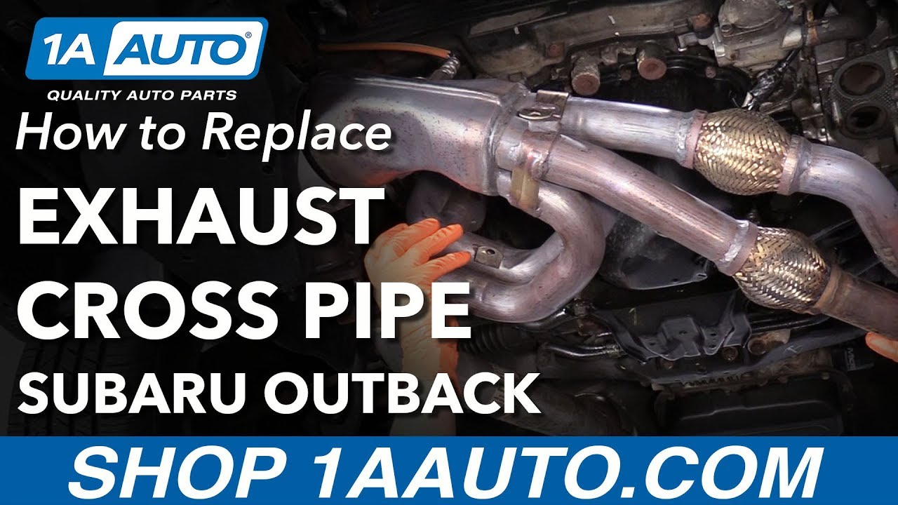 how to replace front exhaust cross pipe 05 09 subaru outback