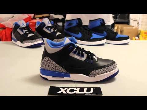 5532168fe9fd Woman s BG Air Jordan 3 Retro - Sport Blue - Unboxing Video at Exclucity