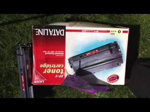 HP Laserjet Toner Cartridge Refilling 6MP 6P  5P  5MP Toner Cartridge