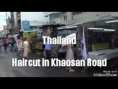 Street Haircut in Bangkok, Thailand