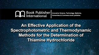 An Effective Application of the Spectrophotometric and Thermodynamic Methods for the Determination
