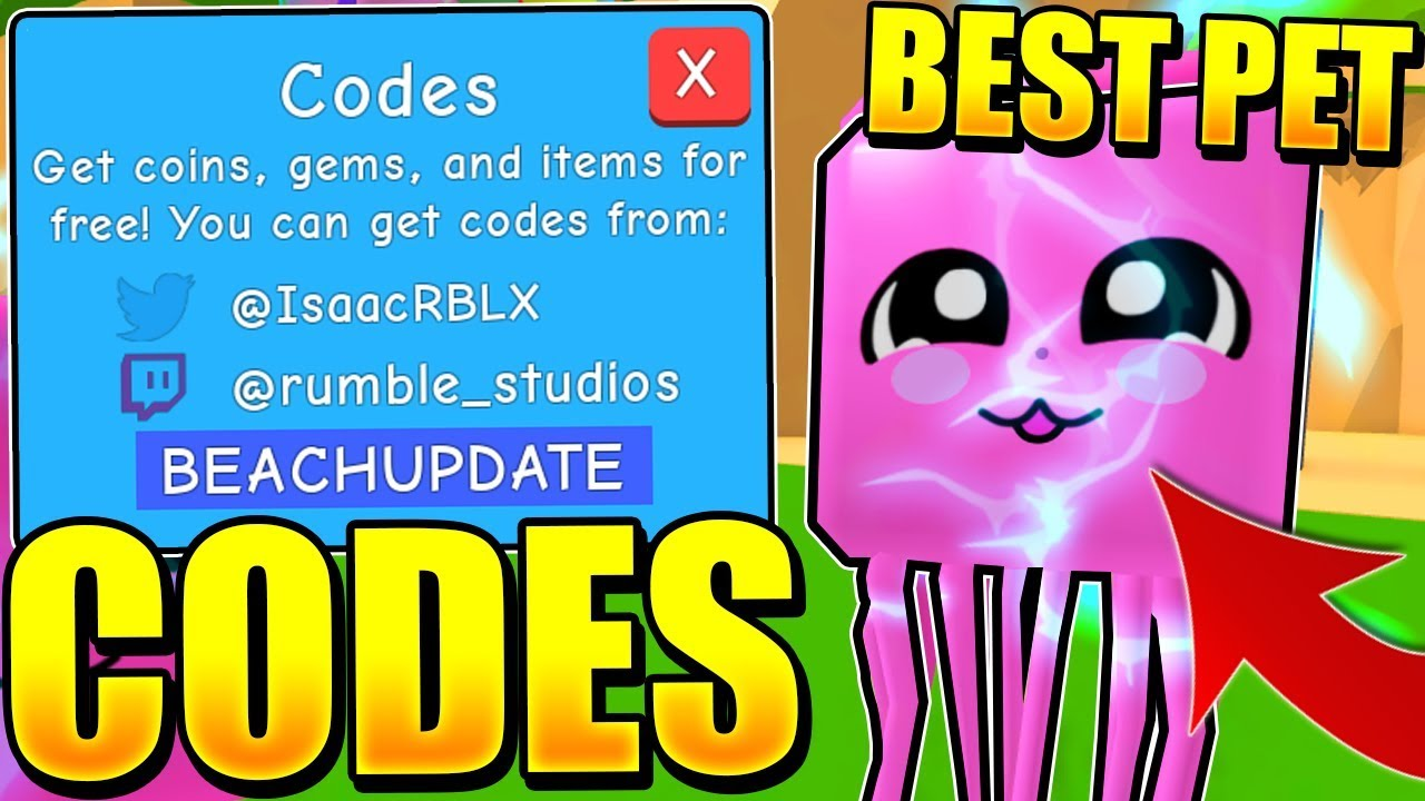 RAREST JELLY FISH PET CODES IN BUBBLE GUM SIMULATOR UPDATE! Roblox