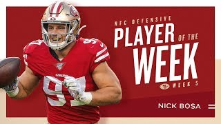 Nick Bosa Named NFC Defensive Player of the Week | 49ers