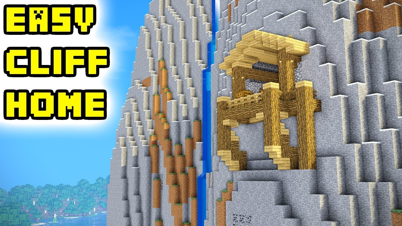 Minecraft Mountain Cliff House Tutorial  How To Build Ideas
