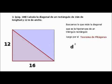 Calcular La Diagonal De Un Rectángulo Animado Con Geogebra Youtube