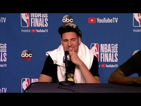 Klay Thompson Draymond Green & Andre Iguodala Postgame Interview | NBA Finals Game 4