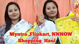 MYNTRA , FLIPKART & NNNOW Shopping Haul || Kurti ,Top, Sandal ,Valentine gift Shopping haul  ||
