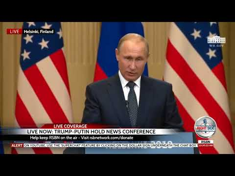 Full Trump-Putin Press Conference from Helsinki, Finland 7/16/18