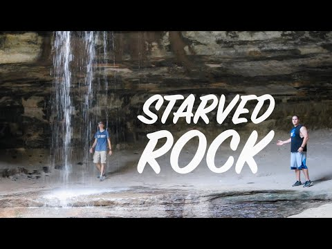 EPIC CANYON WATERFALLS! (Starved Rock, Illinois)