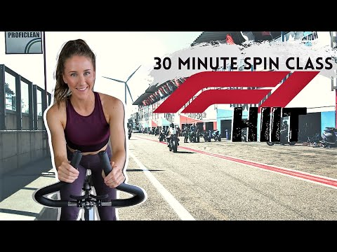 30 MINUTE SPIN CLASS: F1 HIIT | INDOOR CYCLING WORKOUT
