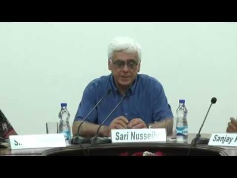 Sari Nusseibeh at CSDS, 19th B.N.Ganguli Memorial Lecture