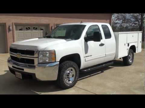 HD VIDEO 2009 CHEVROLET SILVERADO 2500 HD UTILITY BED 4X4 DURAMAX DIESEL USED FOR SALE SEE WEBSITE