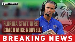 florida-state-hires-coach-mike-norvell-memphis-breaking-news-cbs-sports-hq
