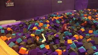 Trampoline Park Training: Distracting Rule Breakers With Games