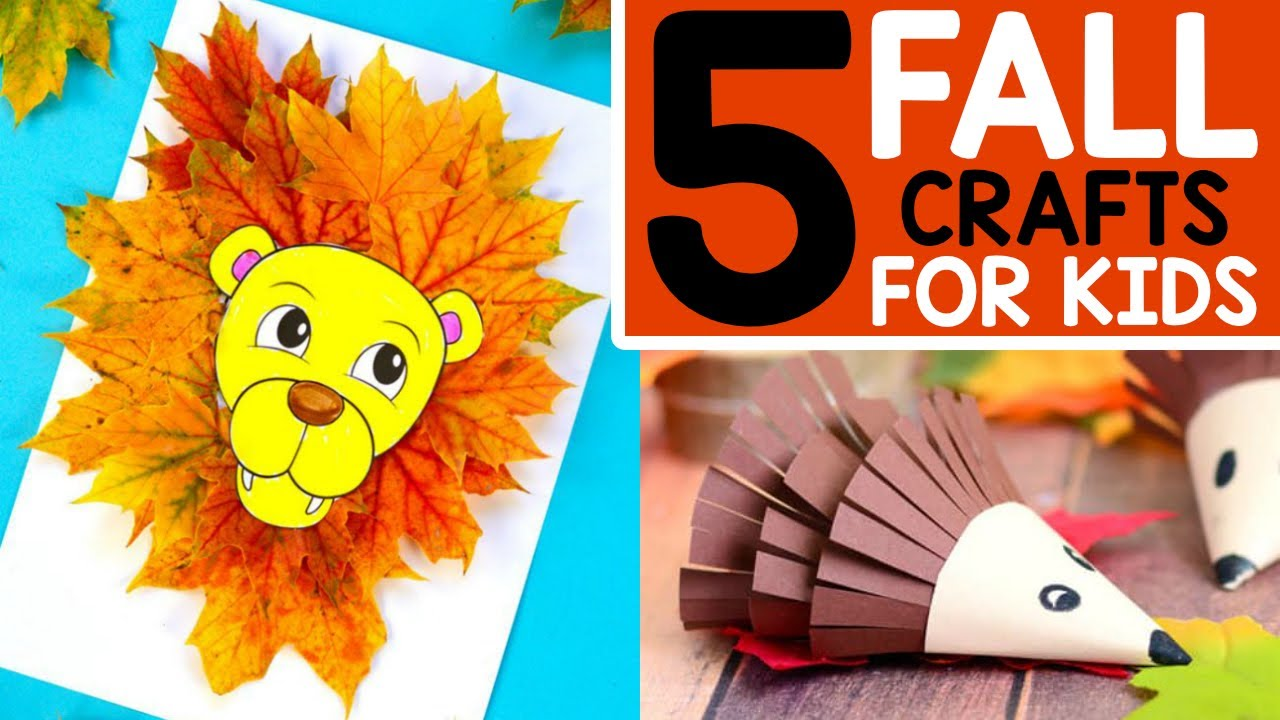 Fall Crafts 5 Easy Fall Crafts For Kids Youtube