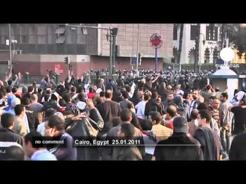 Egyptians protest against government in Cairo  - no comment