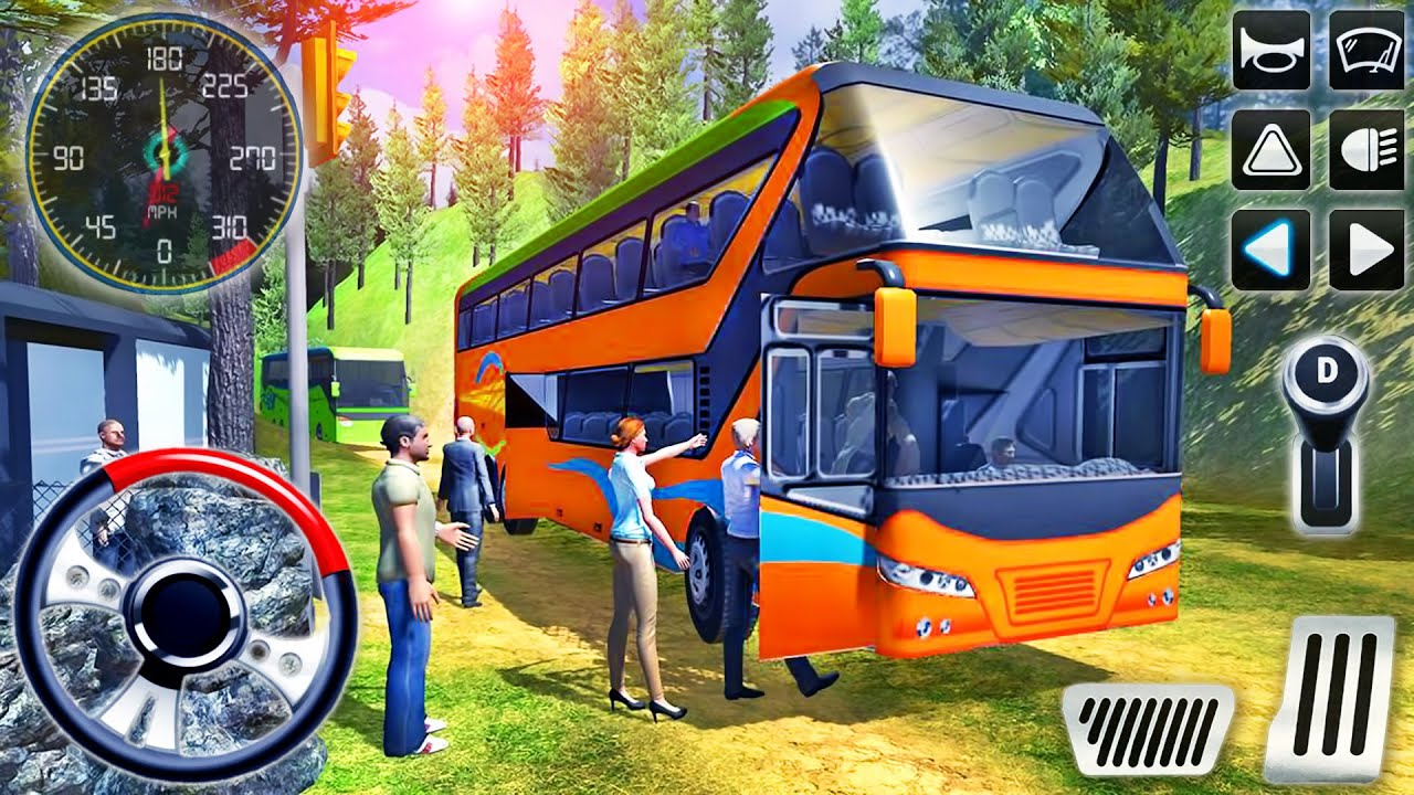 Offroad Coach Bus Uphill Driver - Tourist Transport Drive Simulator - Android GamePlay #2