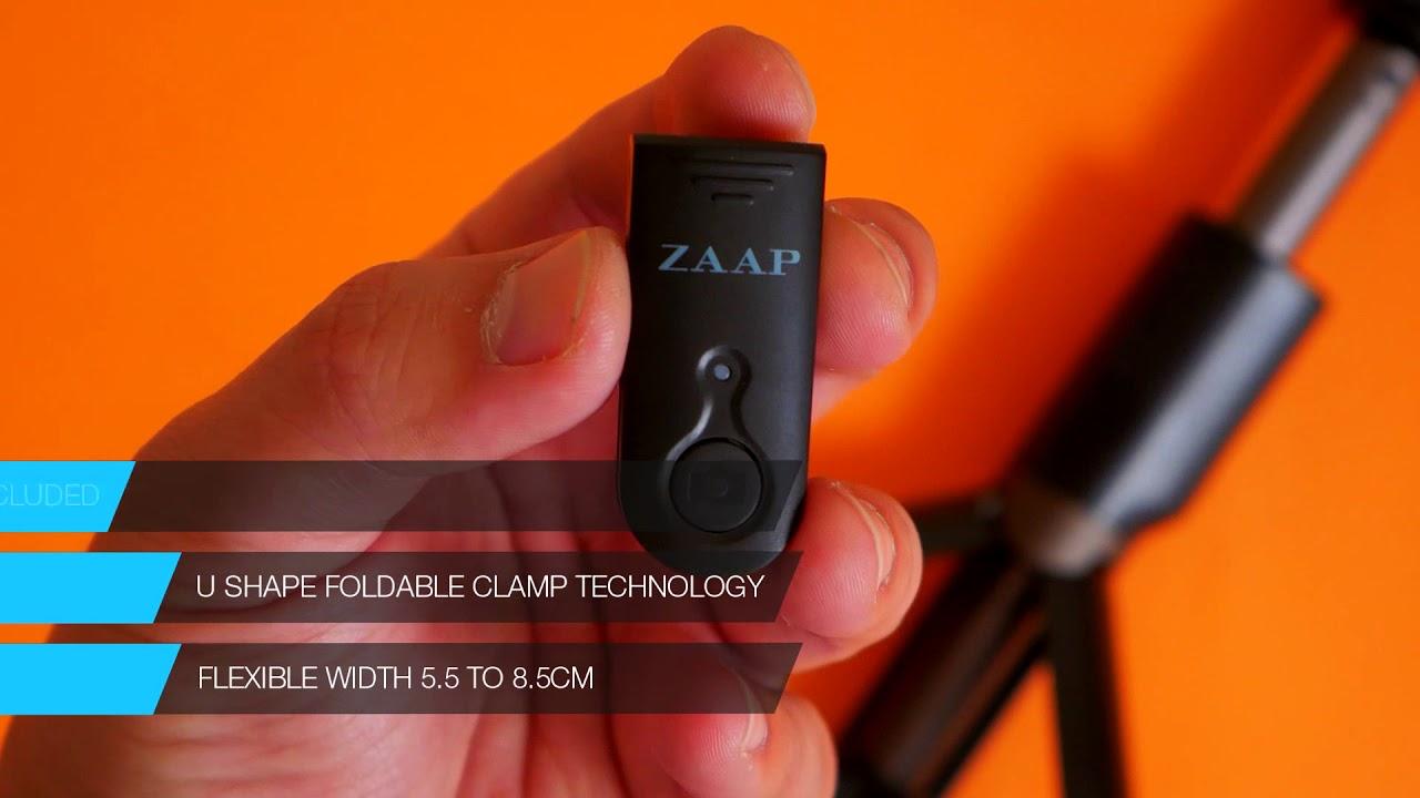 007a4a01fa233a ZAAP NUSTAR6 Aluminium Premium Bluetooth Selfie Stick with In-built Tripod  Amazon