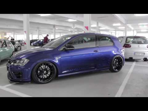 VW Volkswagen GOLF R 2.0 TSI 4MOTION Turbo Tuning Blue O.Z. 19″ Wheels