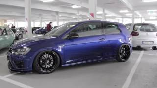 vw volkswagen golf r 2 0 tsi 4motion turbo tuning blue o z 19 wheels