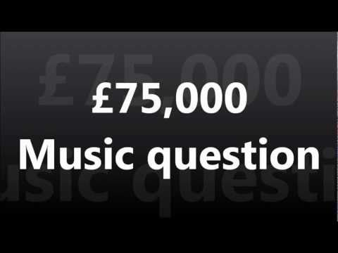 WWTBAM - £75,000 : Music question [UK 2007]