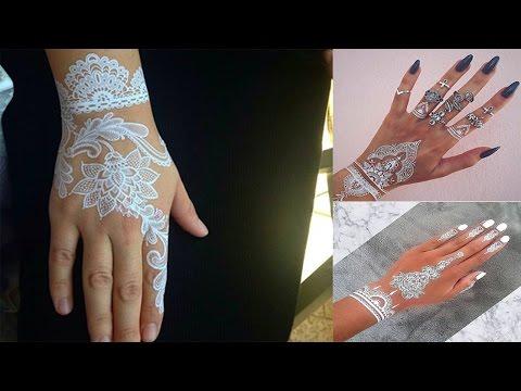 White Henna Tattoo Temporary Women Instagram Trend 05 ᴴᴰ █▬█ █ ▀█▀