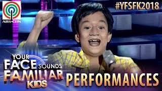Your Face Sounds Familiar Kids 2018: Marco Masa as Yoyoy Villame | Mag-Exercise Tayo