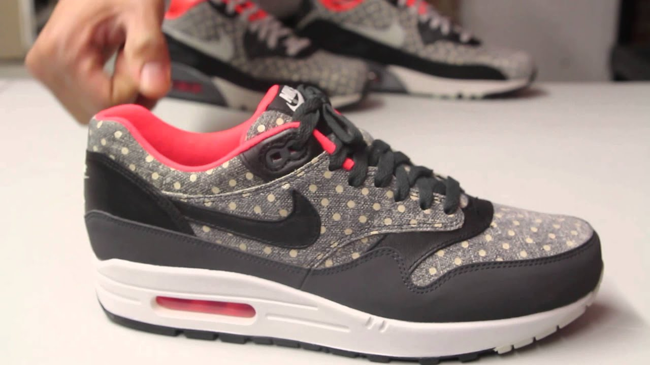zapatillas nike air max 1 ltr premium polka dot