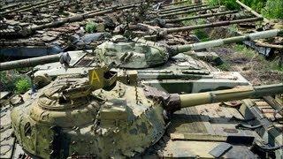 Charków - cmentarzysko radzieckich czołgów