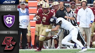 Holy Cross vs. Boston College Condensed Game | 2018 ACC Football