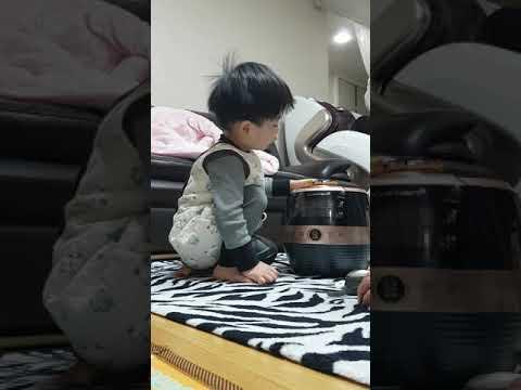 3살 꼬마의 쿠첸 전기압력밥솥 사용법 설명 - how to use electric rice cooker by 3 years KOREAN kid(CUCHEN CJS-FA0603V)