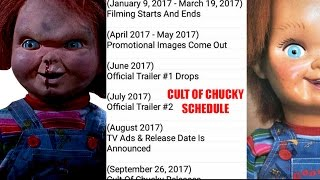 CULT OF CHUCKY SCHEDULE LEAKED! (Trailer Release Dates & More) | CULT OF CHUCKY NEWS!
