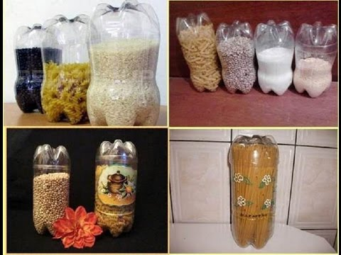 Поделки из пластиковых бутылок своими руками для дома