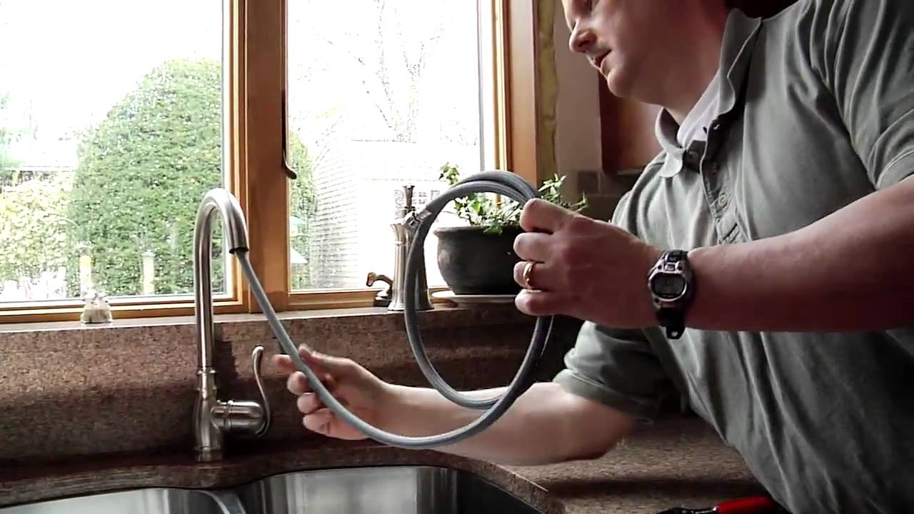do it yourself kitchen faucet installation by moen youtube rh youtube com how to replace a moen kitchen faucet spray hose how to replace a moen kitchen faucet hose