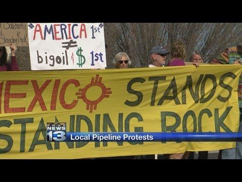 Protesters in Albuquerque rally against Dakota Access Pipeline
