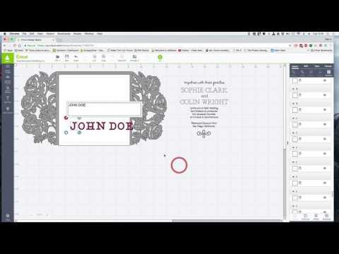 Make it Now Project - Wedding Invitation Cricut Design Space