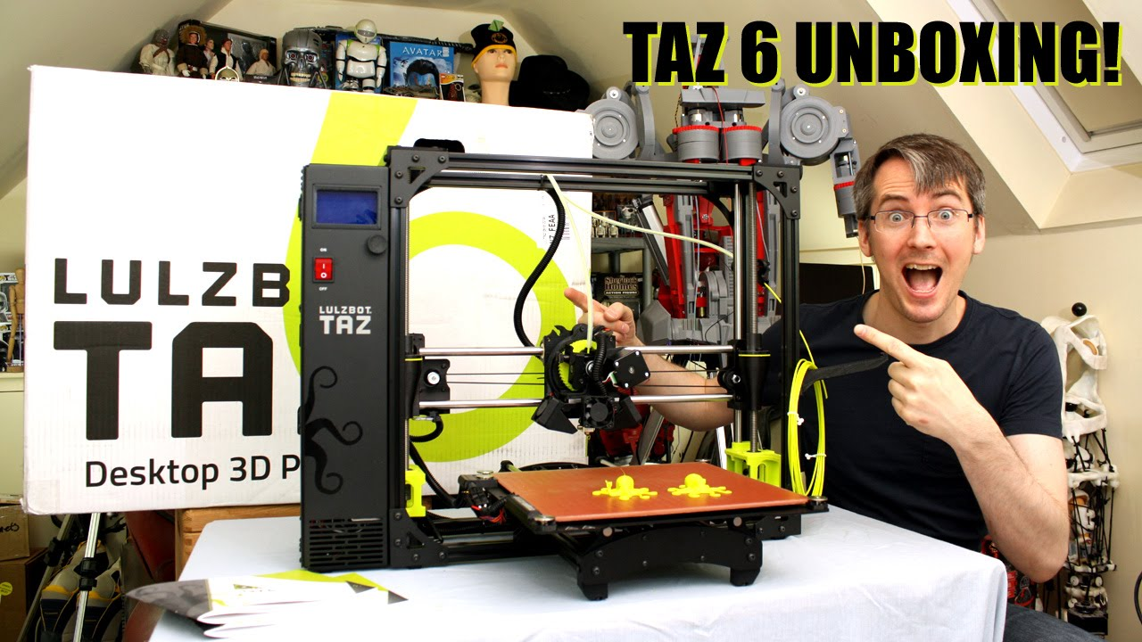 Lulzbot taz 6 3d printer review | Lulzbot taz 6 desktop 3d printer review Unboxing