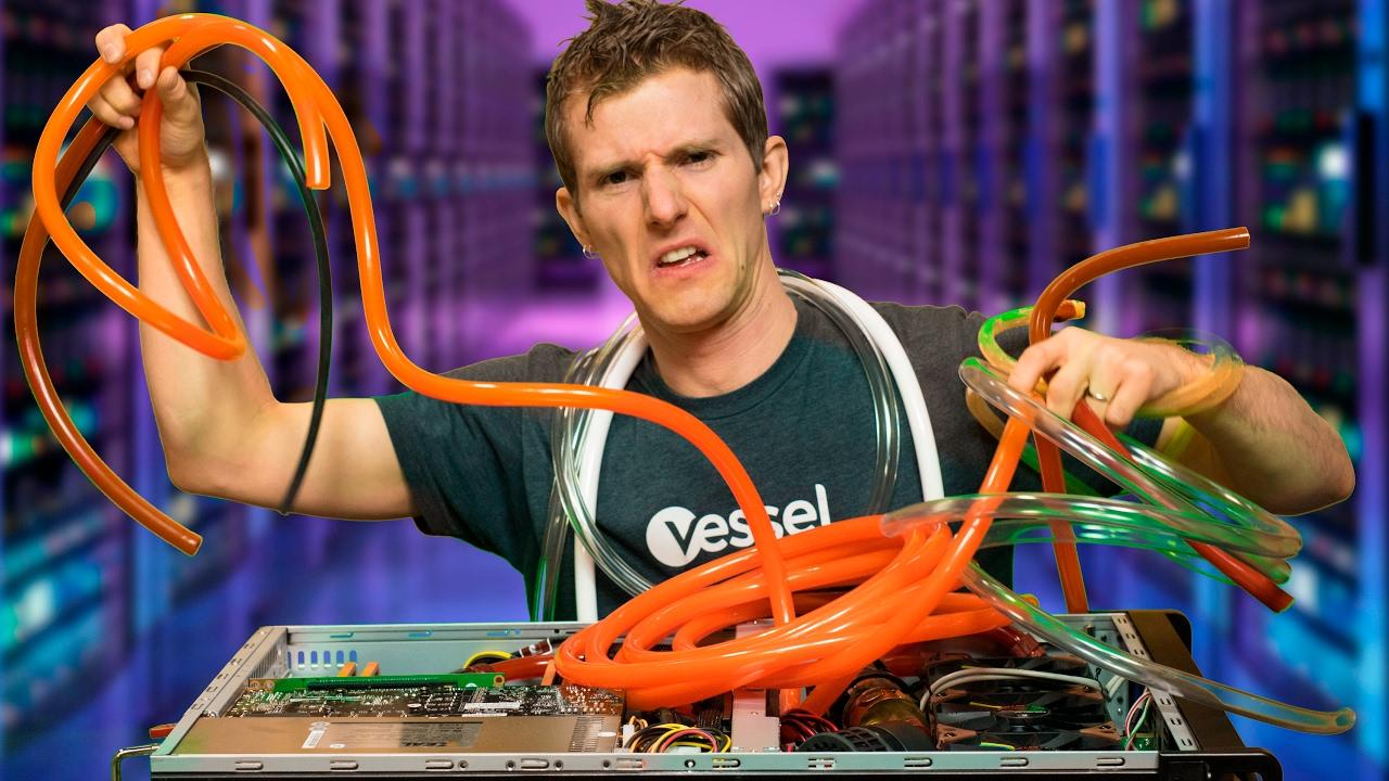 watercooled overclocked server build  [ 1280 x 720 Pixel ]