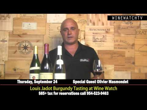Louis Jadot Burgundy Tasting at Wine Watch - click image for video