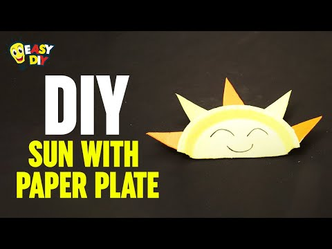 How To Make Sun With Paper Plate | Easy DIY Crafts Ideas | Paper Plate Crafts For Kids | Easy DIY