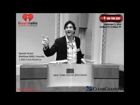 "Matthew Bird CEO of 1-800-PublicRelations ""1800pr"" Interviewed on Traders Network Show"