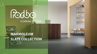 Marmoleum Slate linoleum solid collection Forbo Flooring Systems