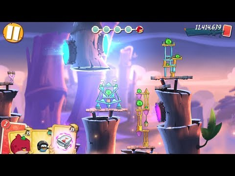 Angry Birds 2: LEVEL 212, Bamboo Forest Misty Mire - Gameplay (FREE MIGHTY EAGLE!)