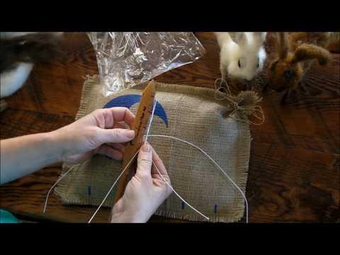 How to Needle Felt: Basket Bunny 1 by Sarafina Fiber Art