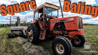 Square Baling Second Crop Hay …