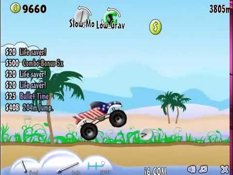 Бесплатные игры онлайн  Монстр трак, гонки на джипе, игра для мальчиков