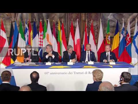 Italy: EU leaders sign