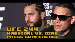 UFC 244 Press Conference: Jorge Masvidal vs Nate Diaz